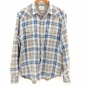 Lucky Brand Western Plaid Snap Shirt